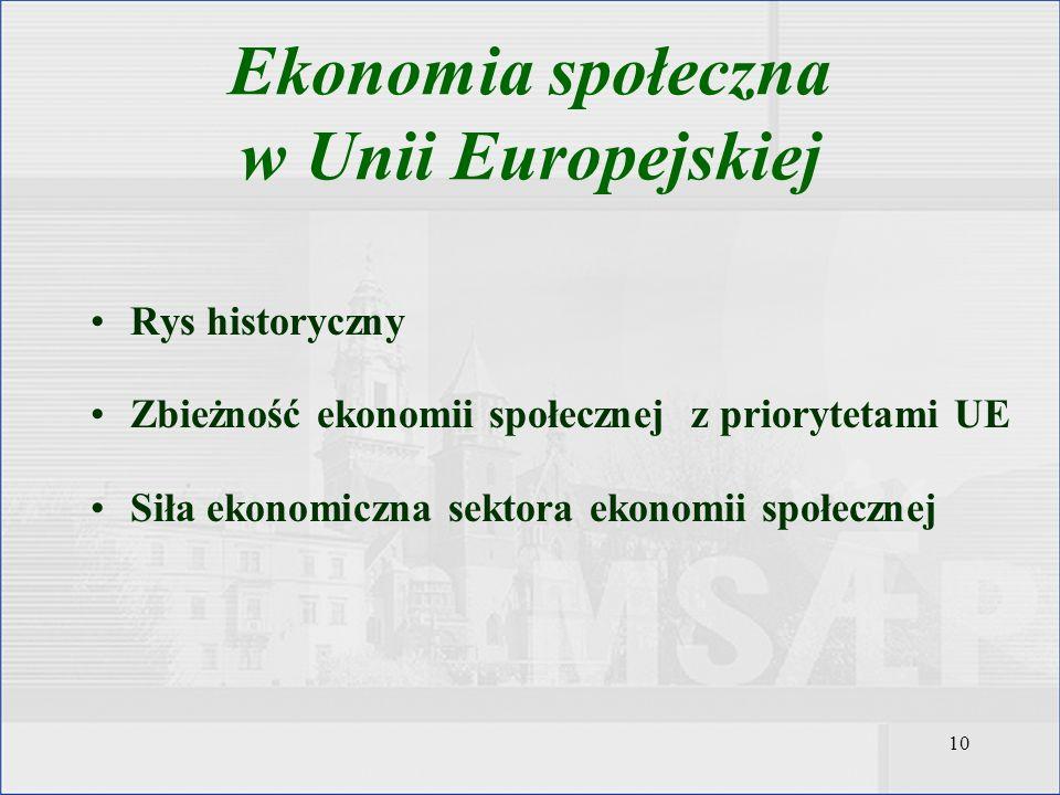 Ekonomia społeczna w Unii Europejskiej
