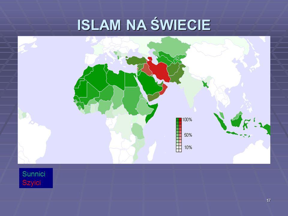 ISLAM NA ŚWIECIE Sunnici Szyici