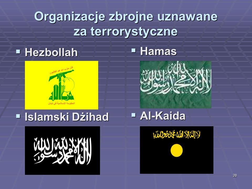 Organizacje zbrojne uznawane za terrorystyczne