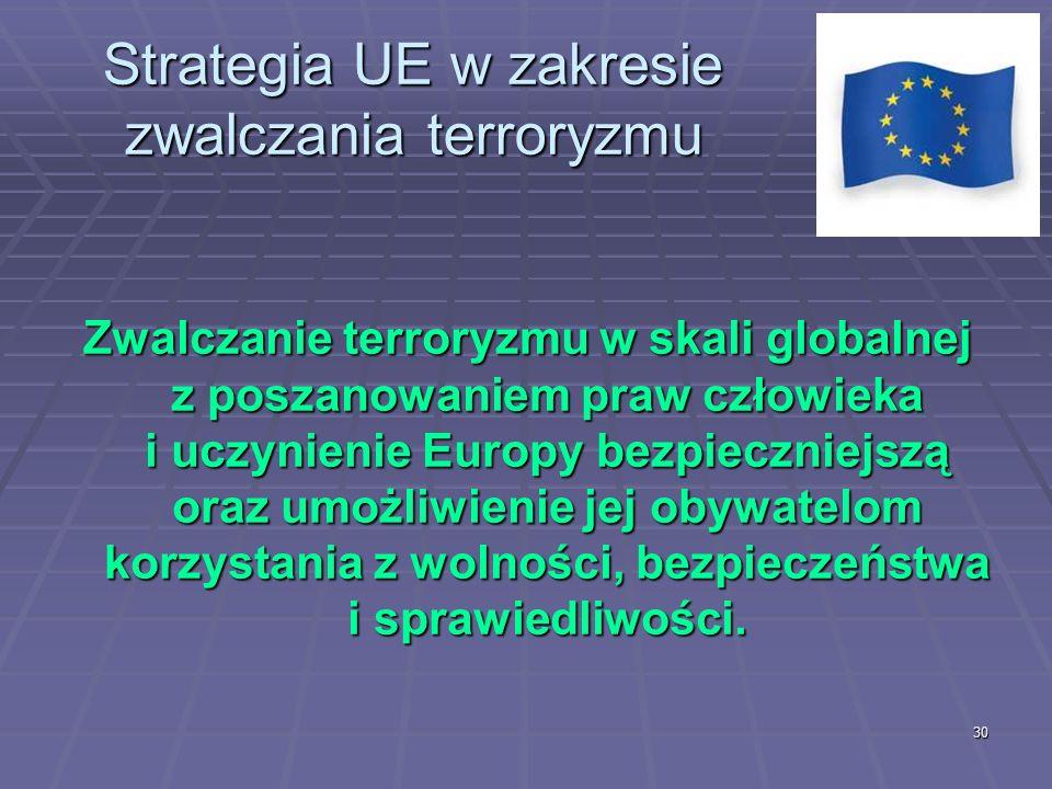 Strategia UE w zakresie zwalczania terroryzmu