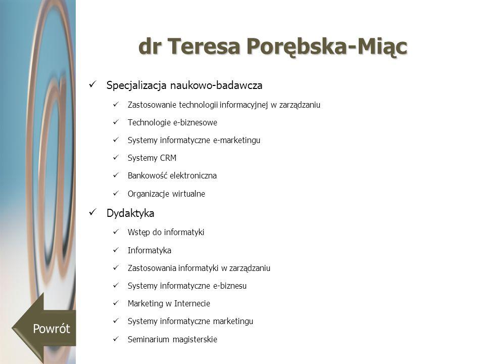 dr Teresa Porębska-Miąc