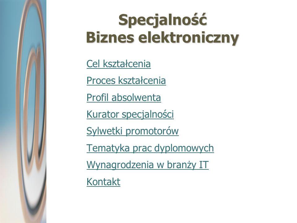 Specjalność Biznes elektroniczny
