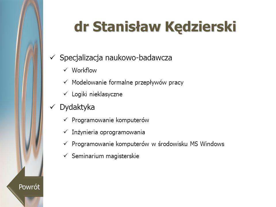 dr Stanisław Kędzierski