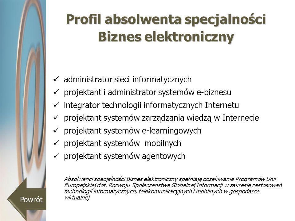 Profil absolwenta specjalności Biznes elektroniczny
