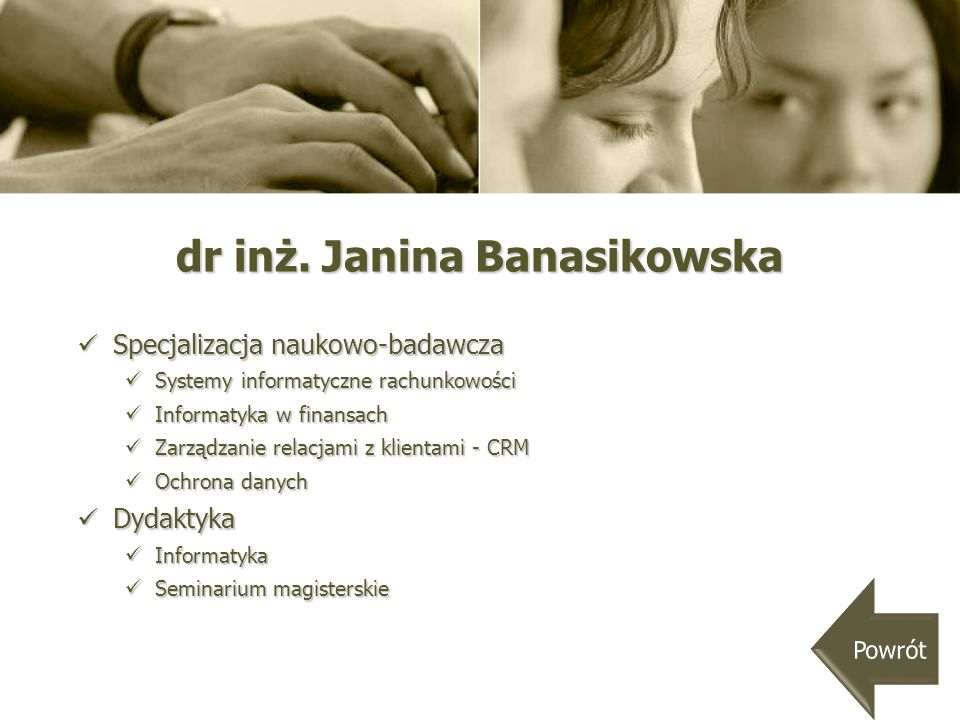 dr inż. Janina Banasikowska
