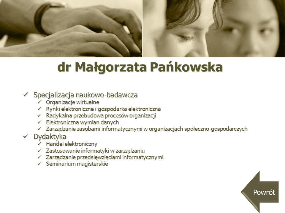 dr Małgorzata Pańkowska