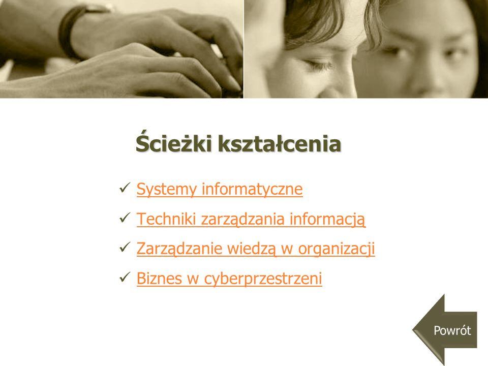 Ścieżki kształcenia Systemy informatyczne