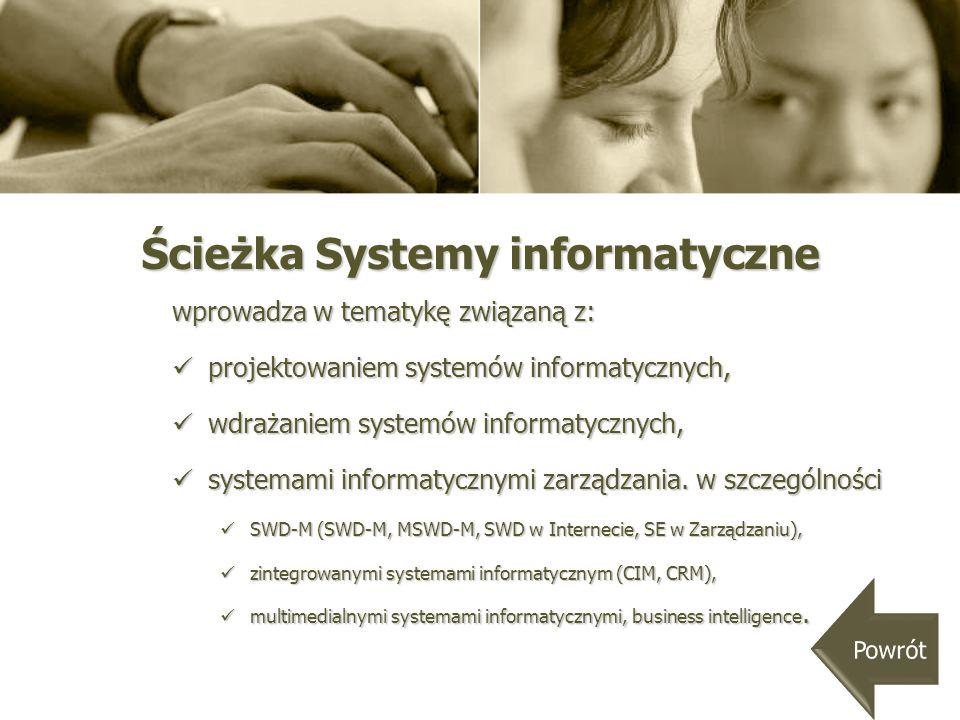 Ścieżka Systemy informatyczne