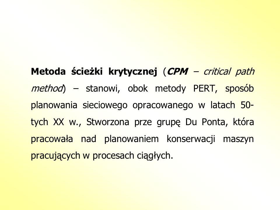 Metoda ścieżki krytycznej (CPM – critical path method) – stanowi, obok metody PERT, sposób planowania sieciowego opracowanego w latach 50-tych XX w., Stworzona prze grupę Du Ponta, która pracowała nad planowaniem konserwacji maszyn pracujących w procesach ciągłych.