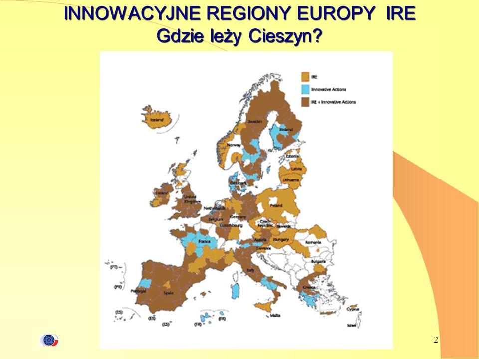 INNOWACYJNE REGIONY EUROPY IRE Gdzie leży Cieszyn