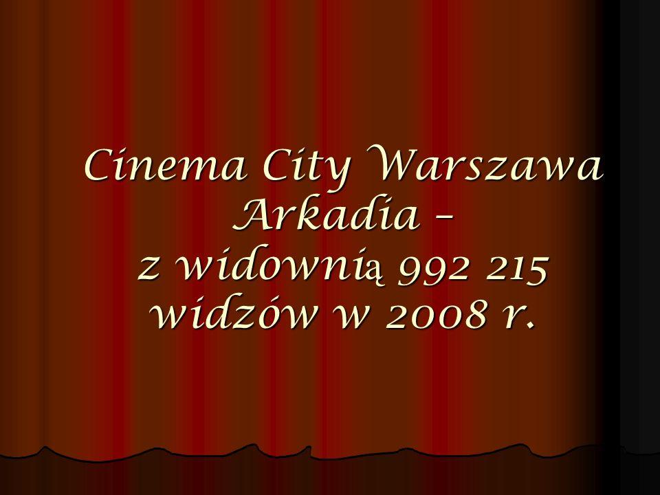 Cinema City Warszawa Arkadia – z widownią 992 215 widzów w 2008 r.