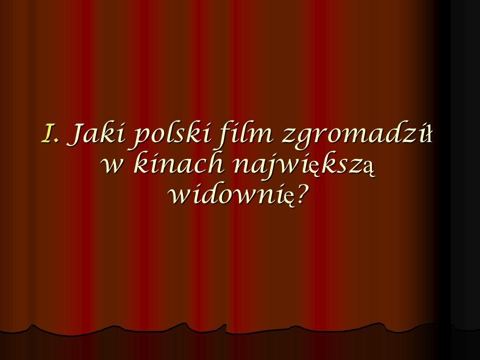 I. Jaki polski film zgromadził w kinach największą widownię