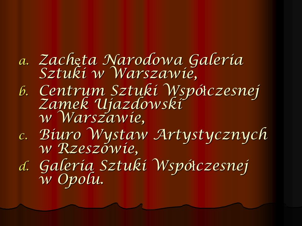 Zachęta Narodowa Galeria Sztuki w Warszawie,