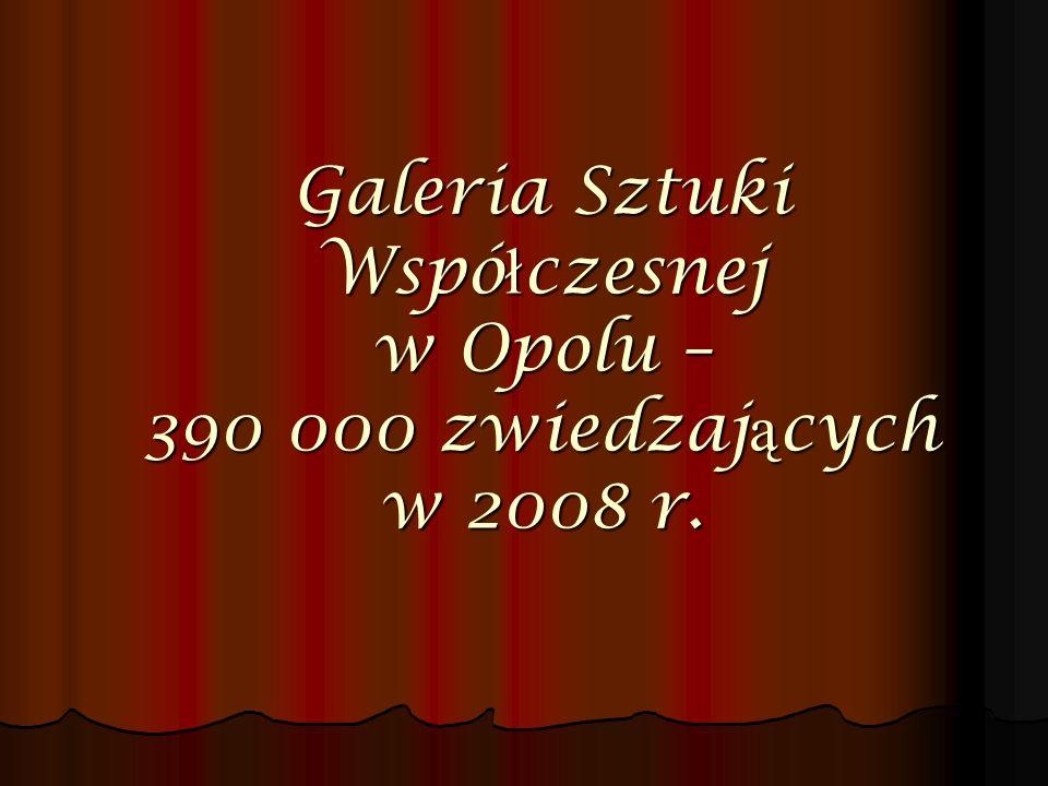 Galeria Sztuki Współczesnej w Opolu – 390 000 zwiedzających w 2008 r.