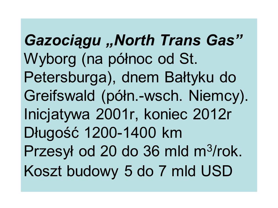 """Gazociągu """"North Trans Gas Wyborg (na północ od St"""