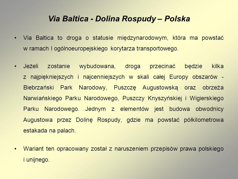 Via Baltica - Dolina Rospudy – Polska