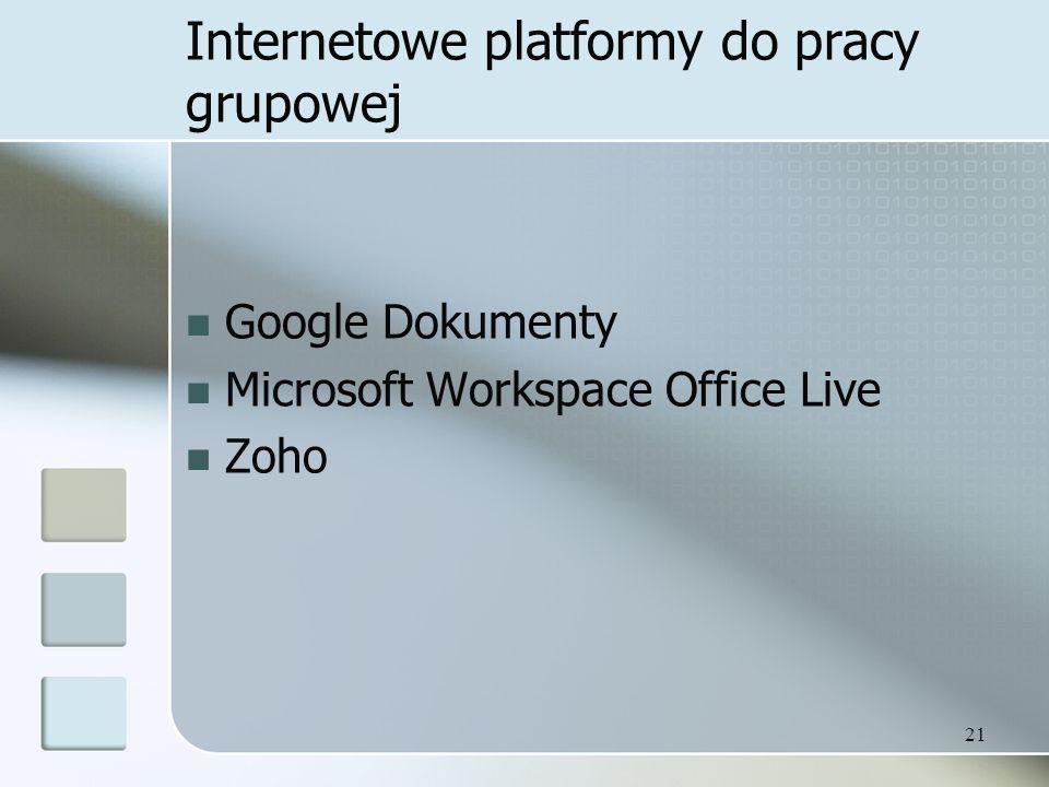 Internetowe platformy do pracy grupowej