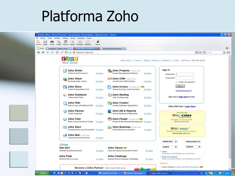 Platforma Zoho