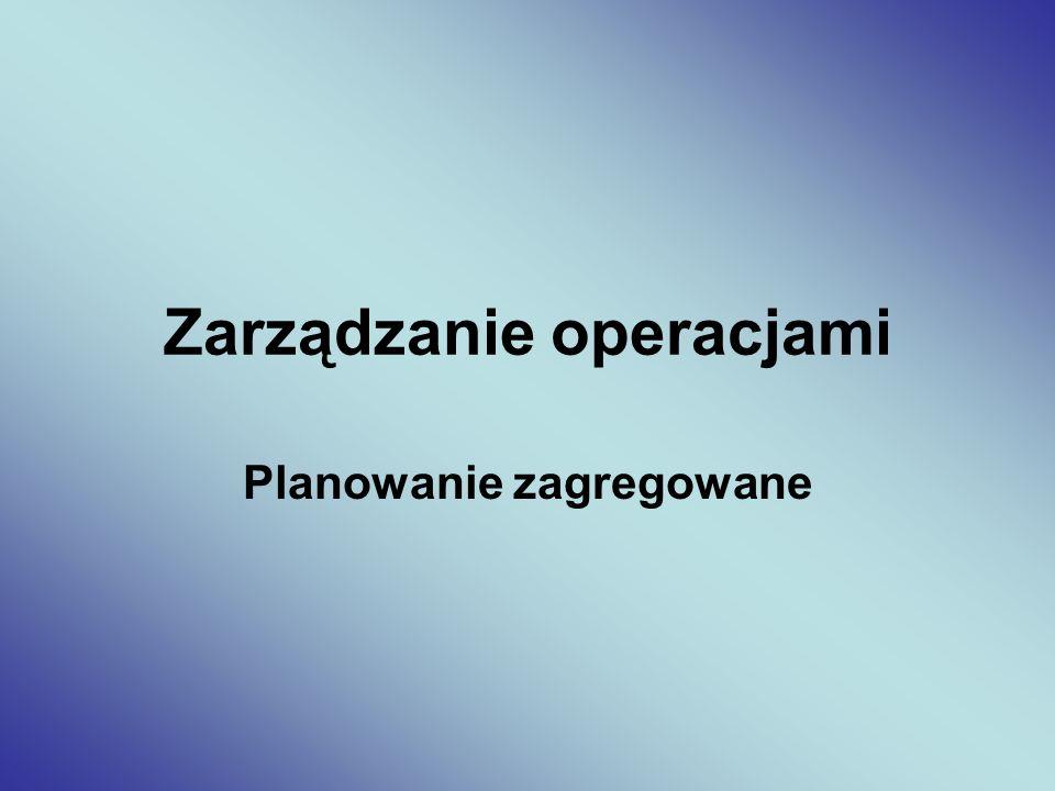 Zarządzanie operacjami