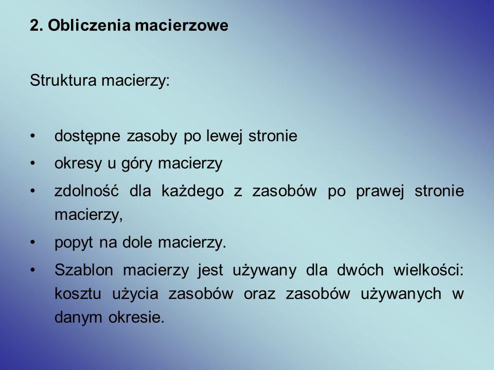 2. Obliczenia macierzowe
