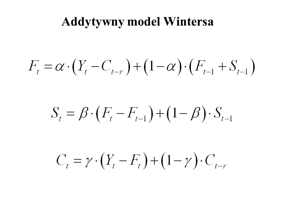 Addytywny model Wintersa