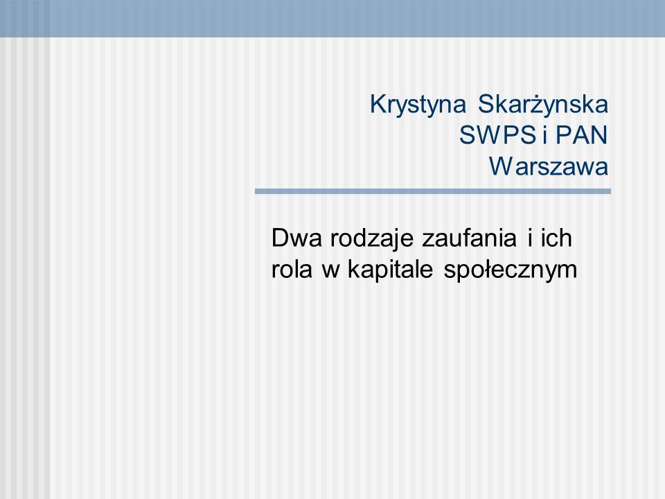 Krystyna Skarżynska SWPS i PAN Warszawa