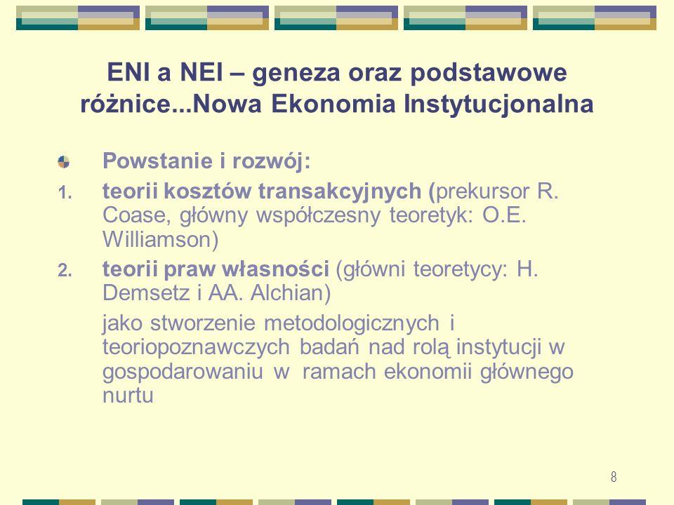 ENI a NEI – geneza oraz podstawowe różnice