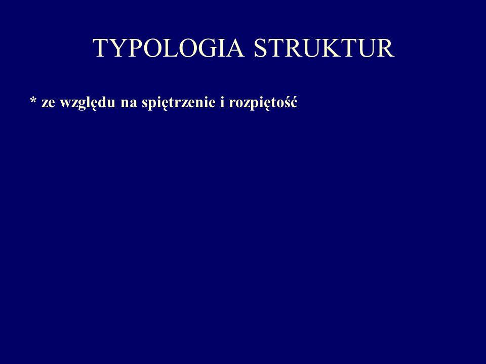 TYPOLOGIA STRUKTUR * ze względu na spiętrzenie i rozpiętość