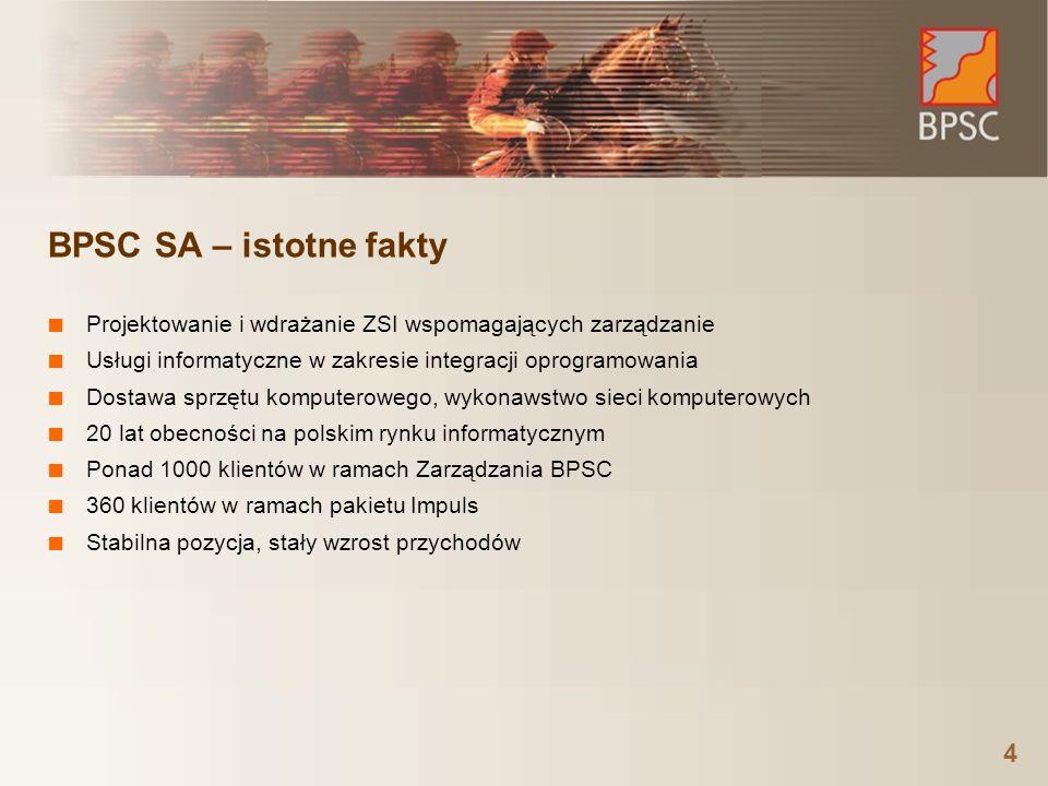 BPSC SA – istotne fakty Projektowanie i wdrażanie ZSI wspomagających zarządzanie. Usługi informatyczne w zakresie integracji oprogramowania.