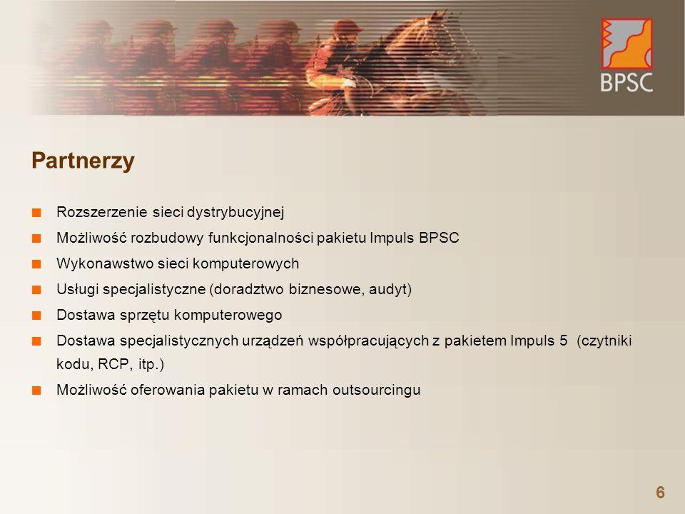 Partnerzy Rozszerzenie sieci dystrybucyjnej