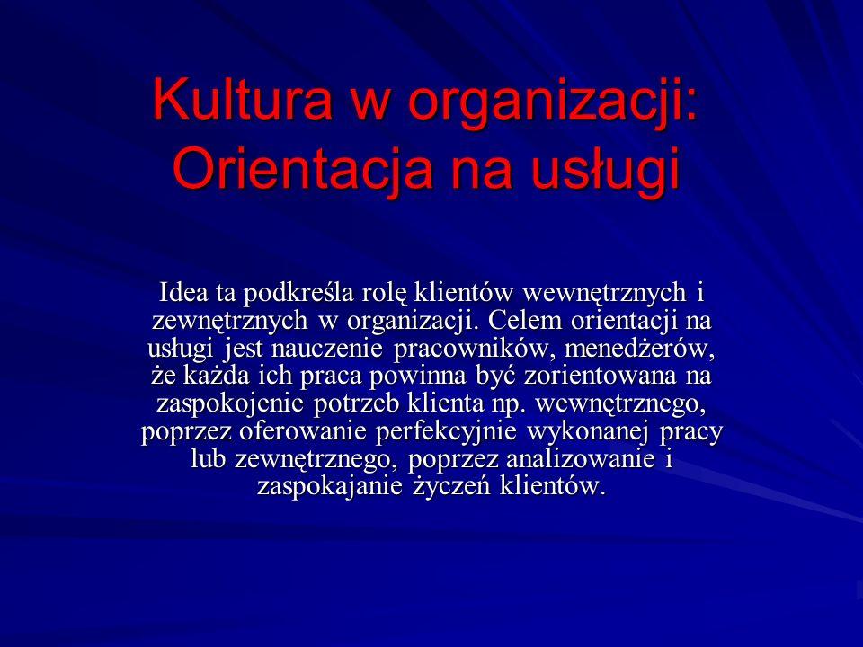 Kultura w organizacji: Orientacja na usługi
