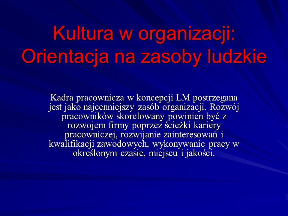 Kultura w organizacji: Orientacja na zasoby ludzkie