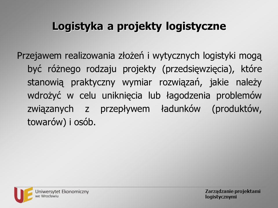 Logistyka a projekty logistyczne