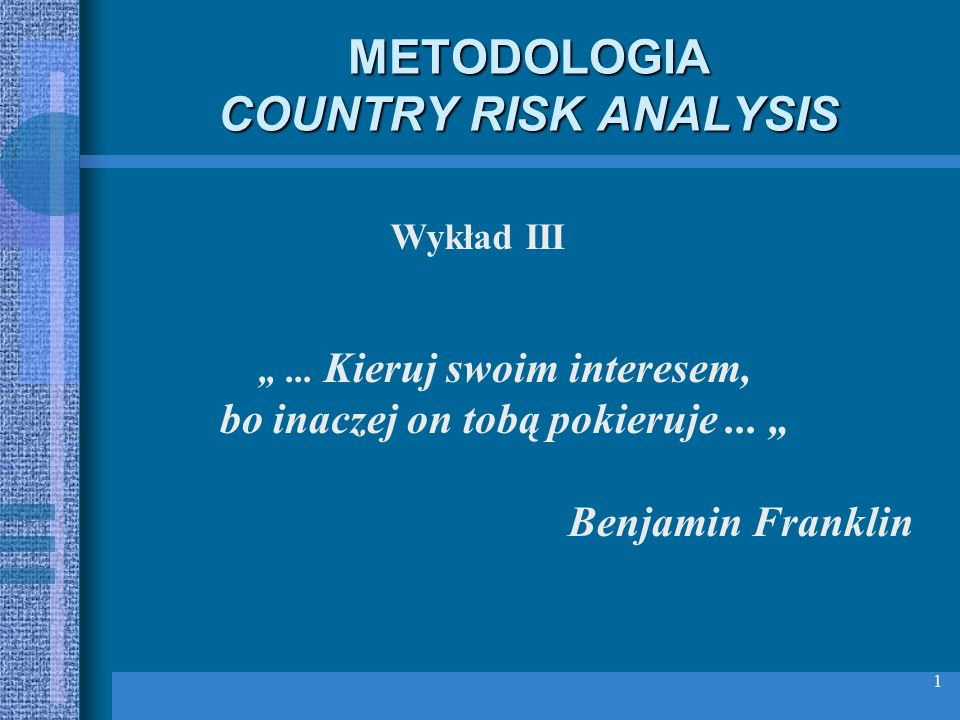 METODOLOGIA COUNTRY RISK ANALYSIS