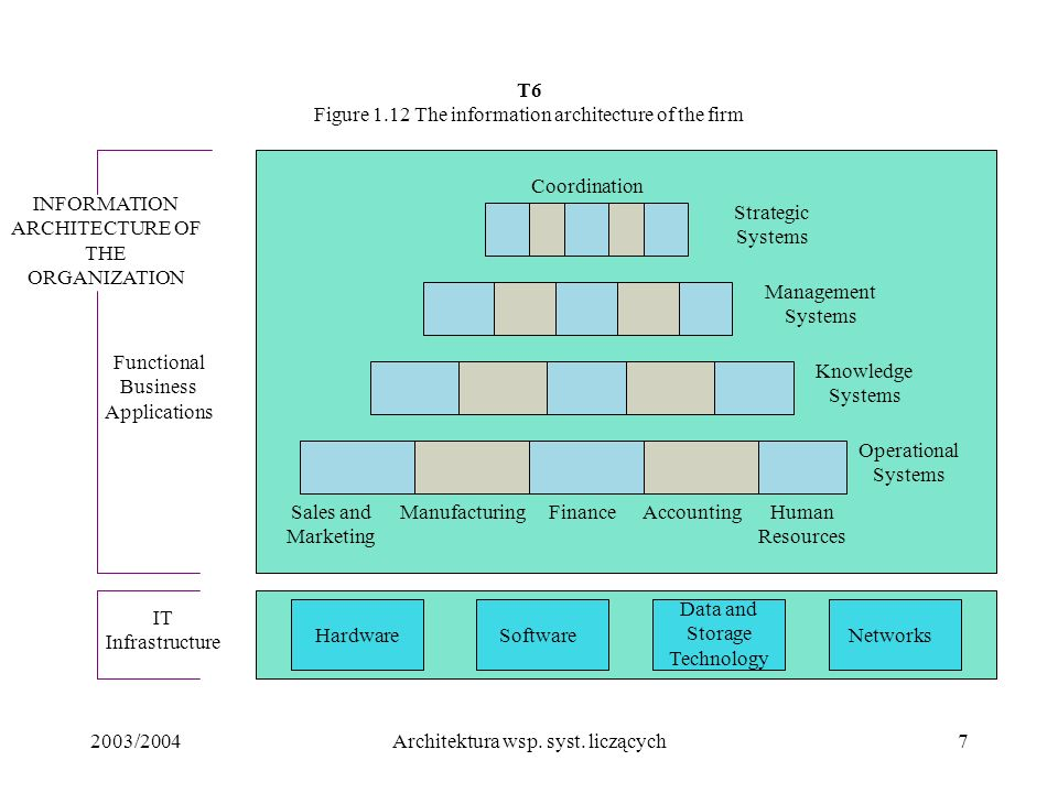 T6 Figure 1.12 The information architecture of the firm