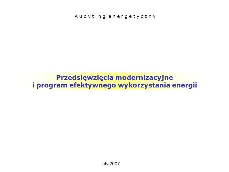 Przedsięwzięcia modernizacyjne