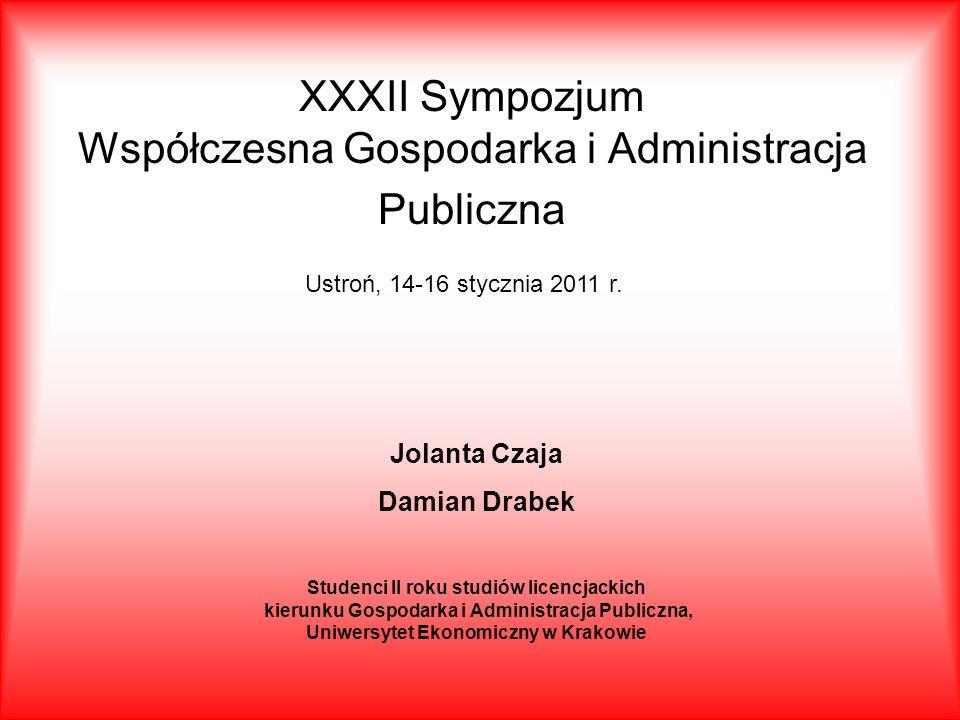 XXXII Sympozjum Współczesna Gospodarka i Administracja Publiczna