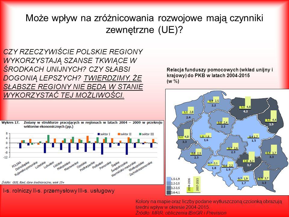 Może wpływ na zróżnicowania rozwojowe mają czynniki zewnętrzne (UE)