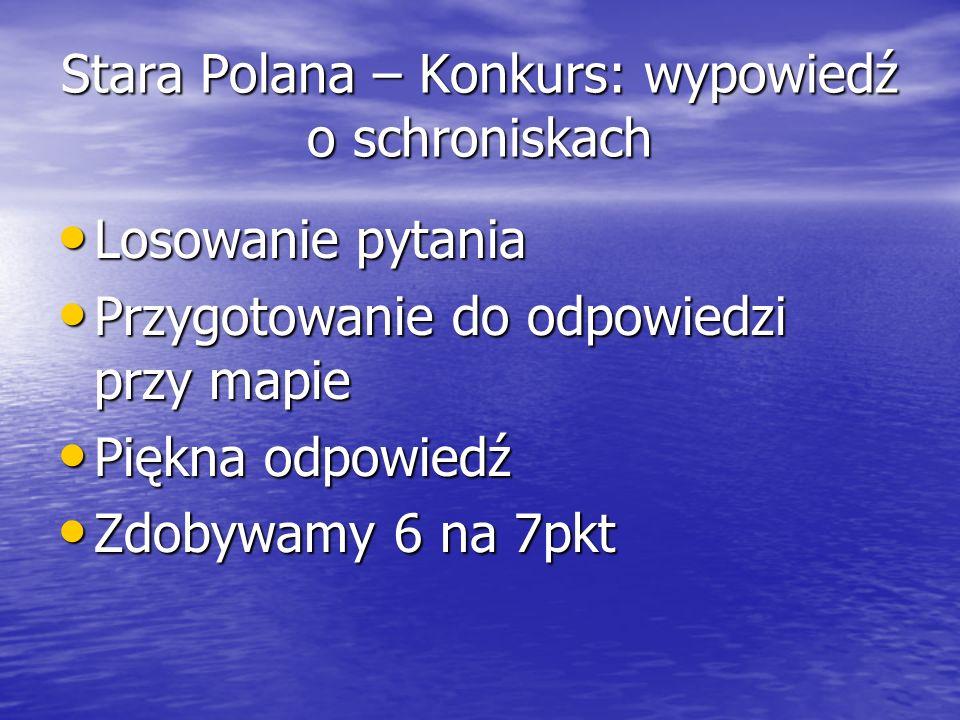 Stara Polana – Konkurs: wypowiedź o schroniskach