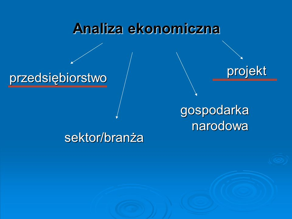 Analiza ekonomiczna projekt przedsiębiorstwo gospodarka narodowa