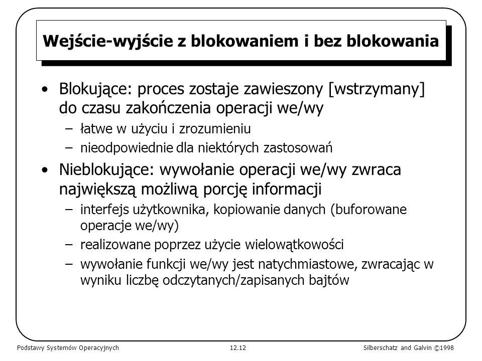Wejście-wyjście z blokowaniem i bez blokowania