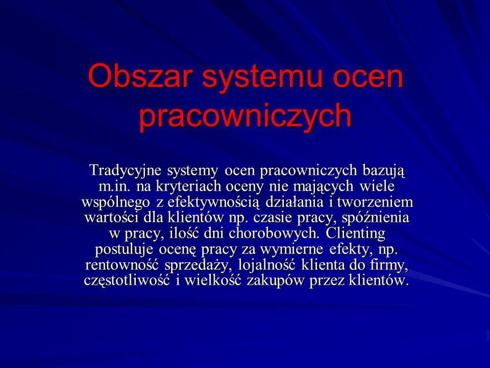 Obszar systemu ocen pracowniczych