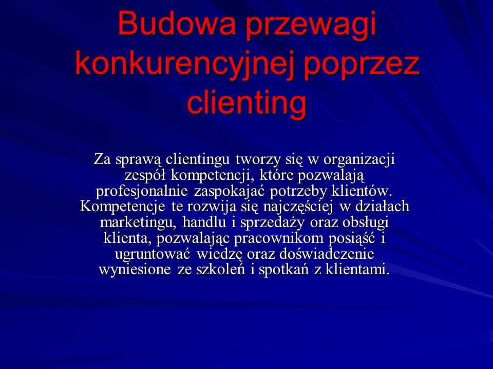 Budowa przewagi konkurencyjnej poprzez clienting
