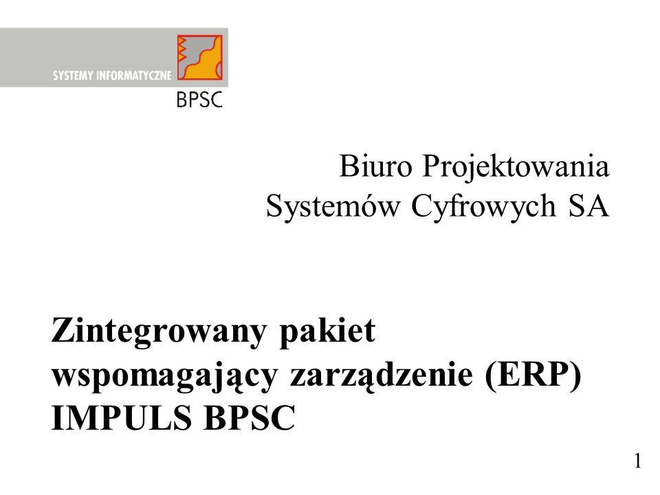 wspomagający zarządzenie (ERP) IMPULS BPSC
