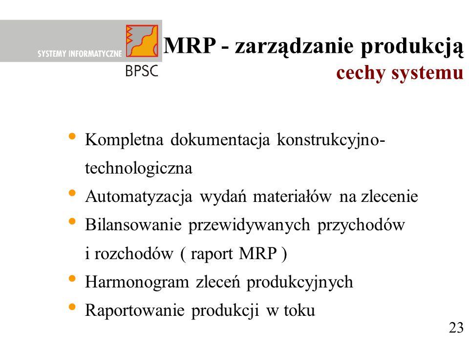MRP - zarządzanie produkcją