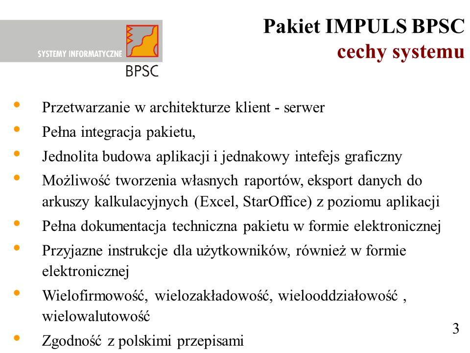 Pakiet IMPULS BPSC cechy systemu