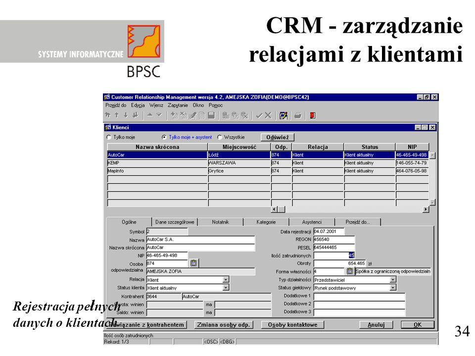CRM - zarządzanie relacjami z klientami 34