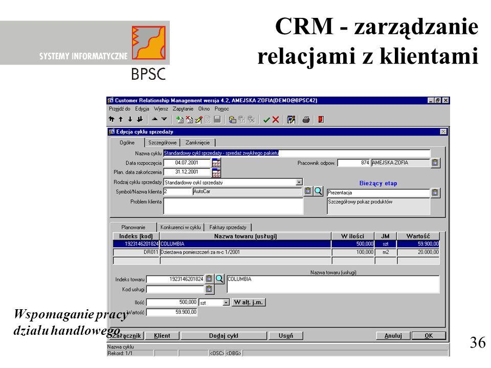 CRM - zarządzanie relacjami z klientami 36