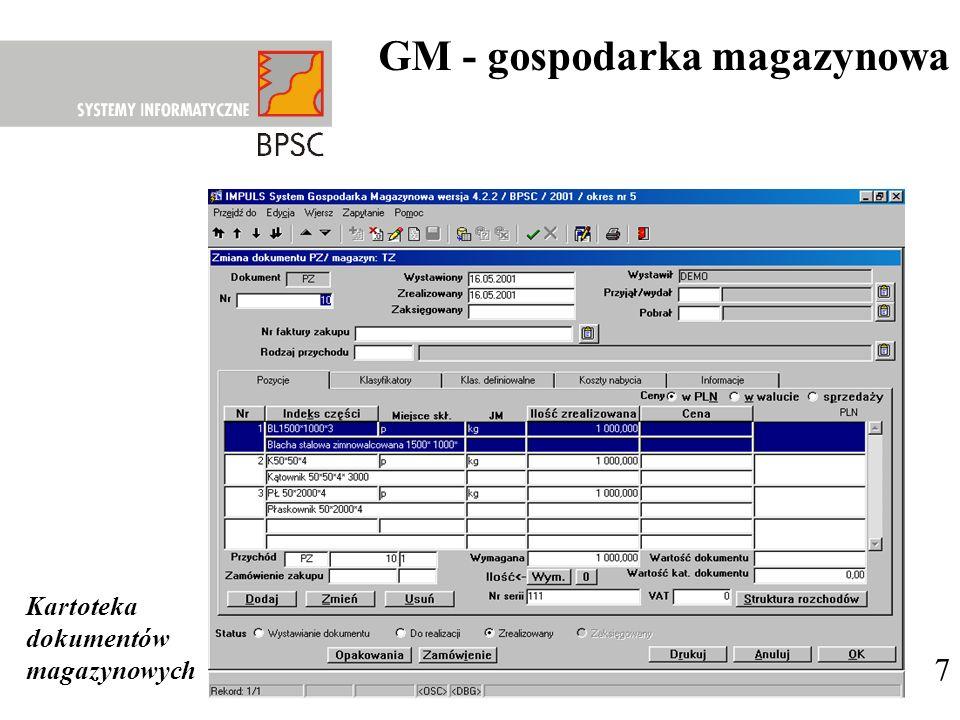 GM - gospodarka magazynowa