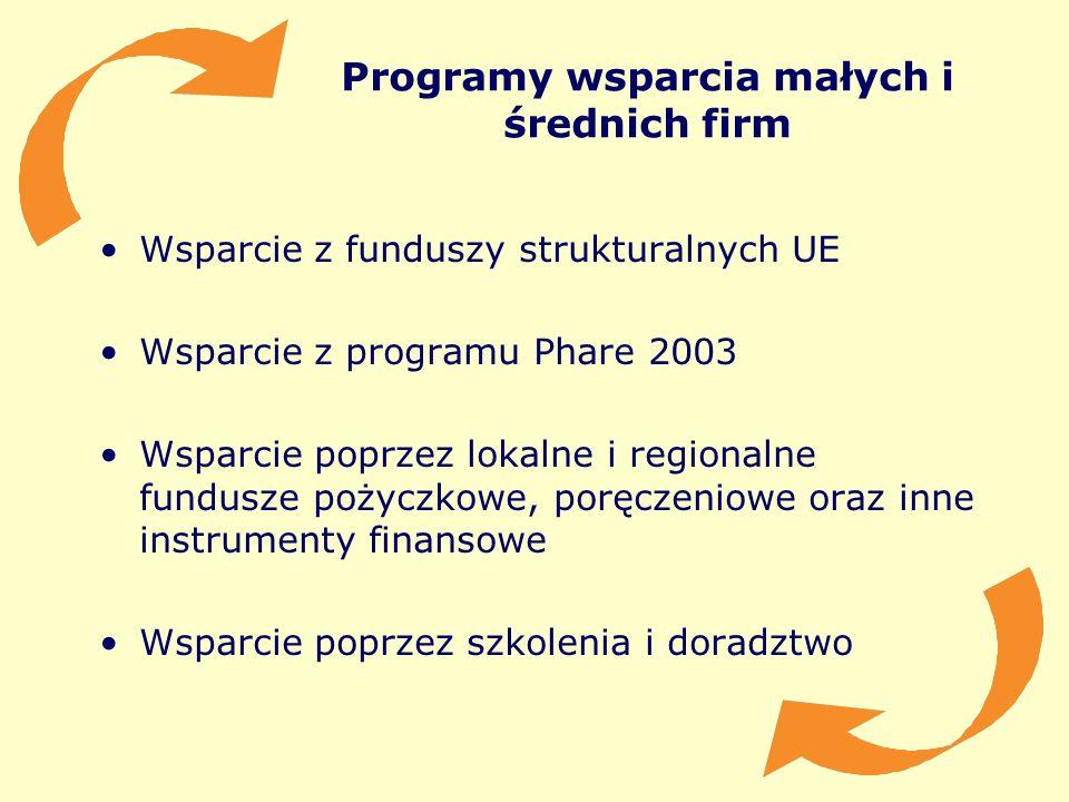 Programy wsparcia małych i średnich firm